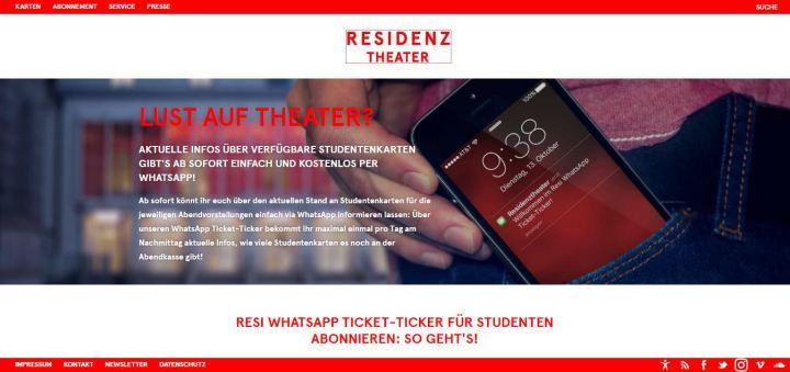 residenztheater whatsapp